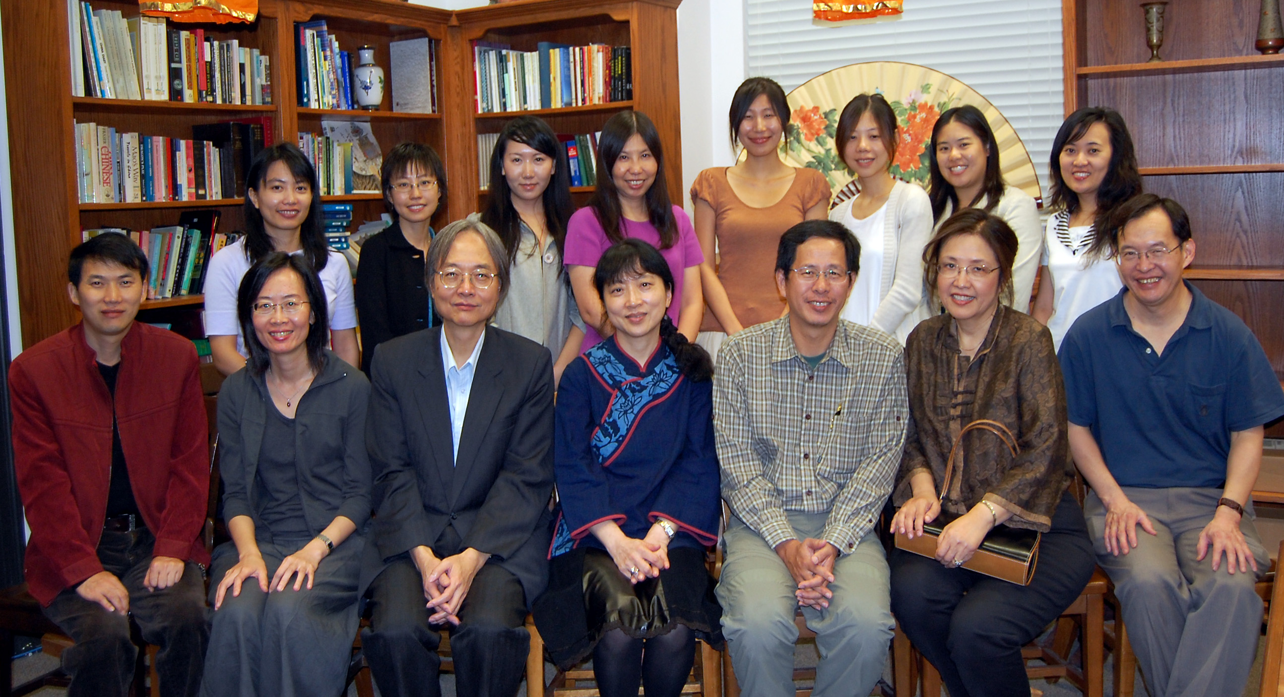 Taken after the seminars given by writers Chu T'ien-wen and Liu Ke-hsiang on November 9, 2009, with UT faculty and graduate students.
