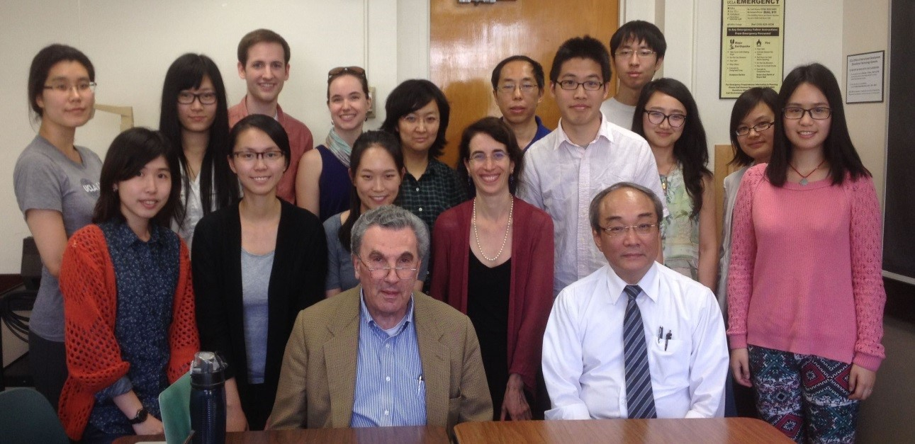 2015-03-13 Andrea Goldman Class with Elman and Wang Wang Fan-sen (Academia Sinica, seated right) and Benjamin Elman (Princeton University, seated left) join Andrea Goldman's (center) graduate seminar in Chinese history (March 2015).