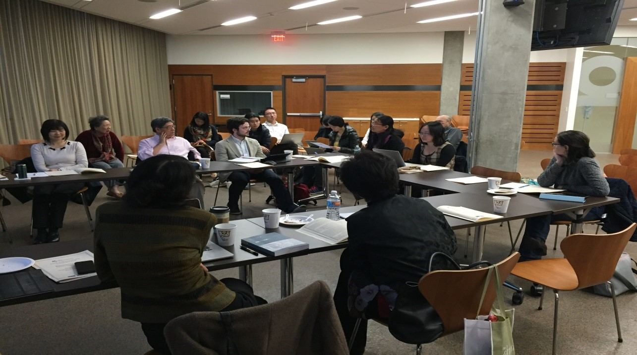 "2016-01-08 Kunqu Scholars discuss kunqu as part of the two-day workshop ""Rehistoricizing Kunqu: China's Classical Opera"" (January 2016)."